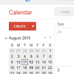 snippet of Calendar for August 2015
