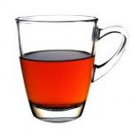 glass cup of black tea, just how I like it