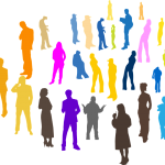 group of outline people